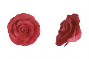 Cerise Sugar Roses 50mm